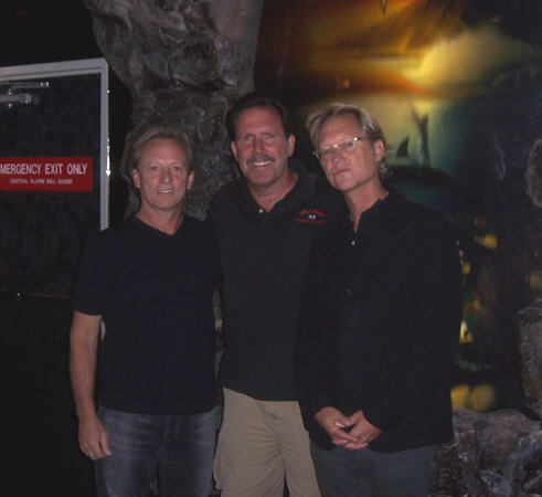 Dr. Ross posing with Dewey Bunnell and Gerry Beckley